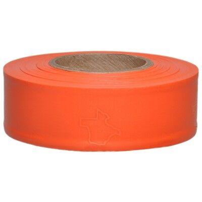 Presco Texas Orange Glo Flagging Tape Ribbon For Survey Construction  1 Roll