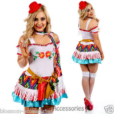 K17 Womens Mexican Mexico Tequila Princess Shooter Fancy Dress Party Costume Tequila Shooter