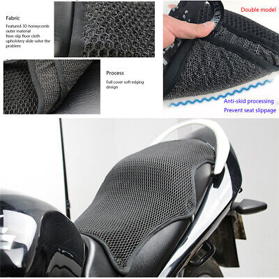 XL Size Motorcycle Breathable 3D Mesh Cool Seat Cover Sunshine Prevent Protector