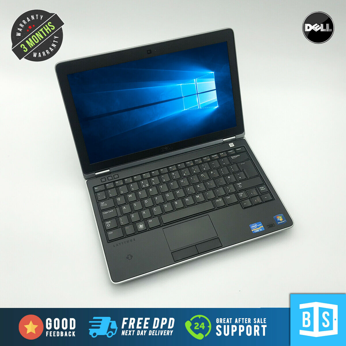 Laptop Windows - Ultra Fast Dell Latitude 6220 Laptop Core i3 256GB SSD 8GB RAM Win 10 MS Office