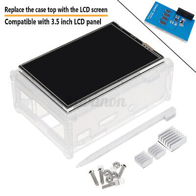 3.5 Tft Lcd Display Touch Screen Kit With Case Heatsink For Raspberry Pi2 W