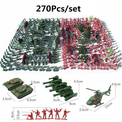 270 pcs Military Playset Plastic Toy Soldier Army Men 4cm Figures & - Toy Army Men