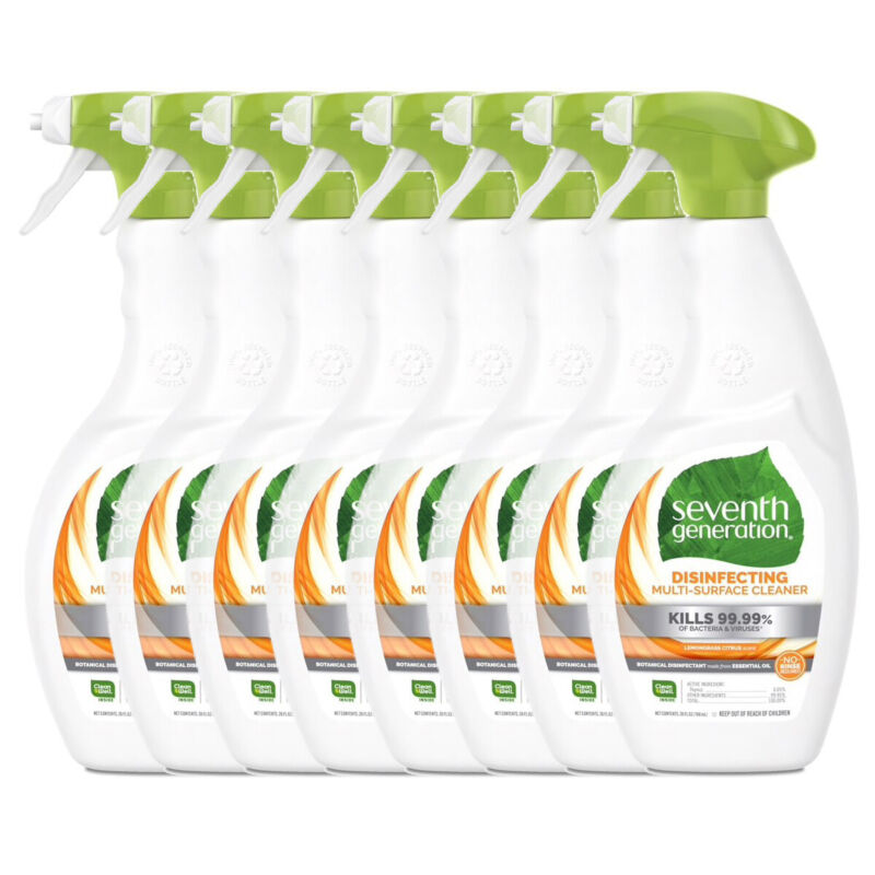 Seventh Generation 99.99% Disinfecting Multi-Surface Cleaner 26oz Case of 8