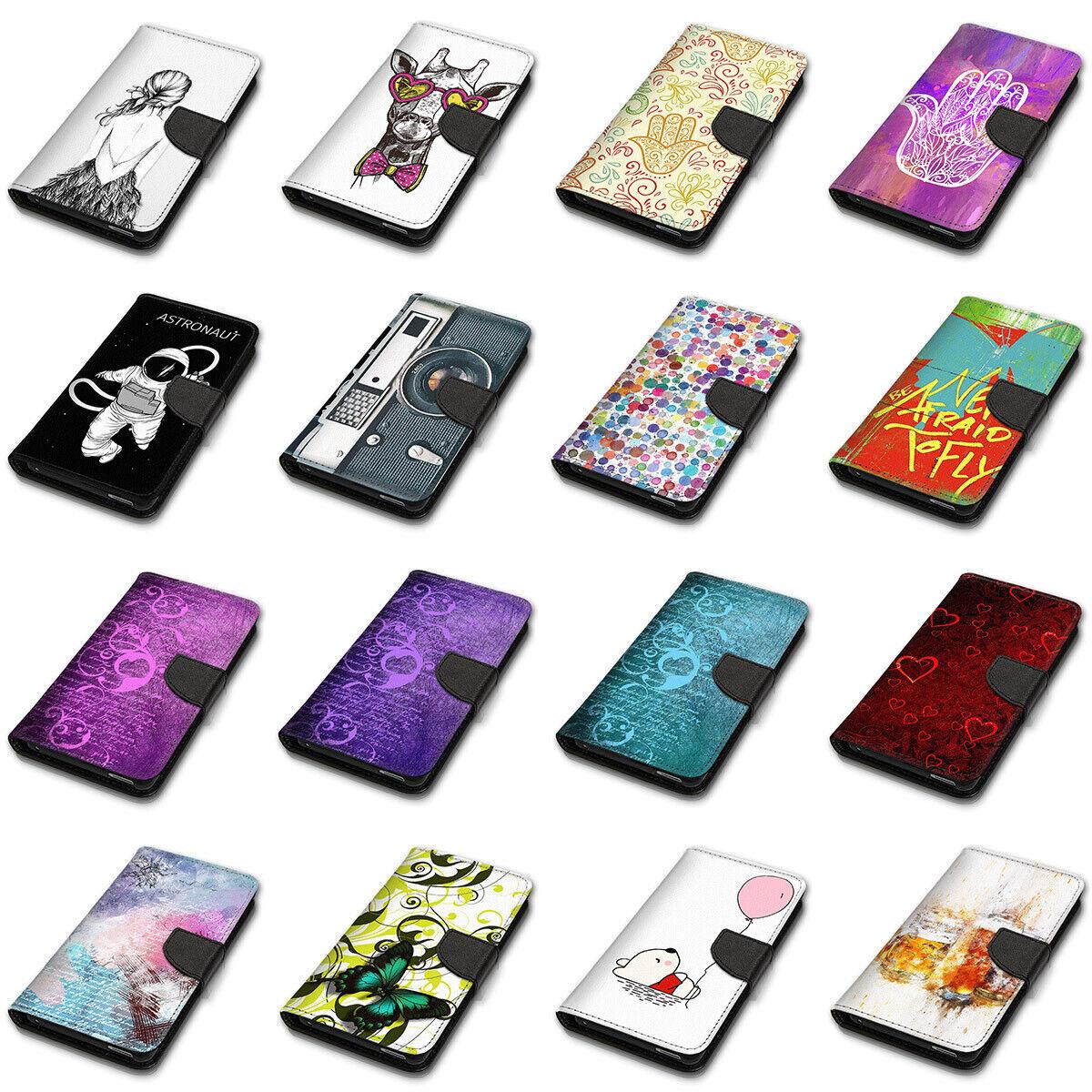 Für Wiko Lenny 3 - Book Wallet Case Hülle Smartphone Flip Tasche 10BB