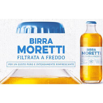 BIRRA MORETTI FILTRATA A FREDDO - NUOVISSIMA - cartone 15 bottiglie da...