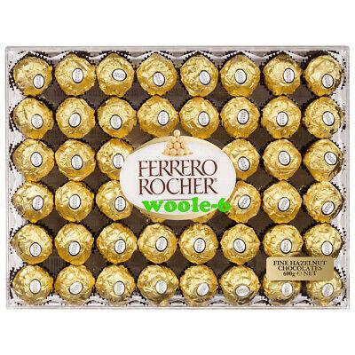 Ferrero Rocher Fine Hazelnuts Milk Wafer Chocolates 21.2 oz. (600g) 48 Pieces Ferrero Chocolate Milk