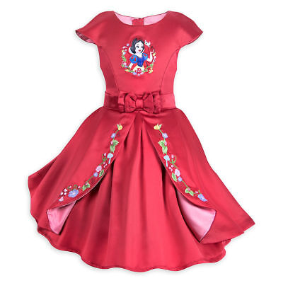 Disney Store Snow White Fancy Red Dress Holiday Girls Party Costume Dwarfs NEW - Party Costume Store