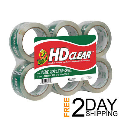 Budget Clear Heavy Duty Packaging Tape Refill 6 Ct 1.88 In X 54.6 Yrd Duck Hd