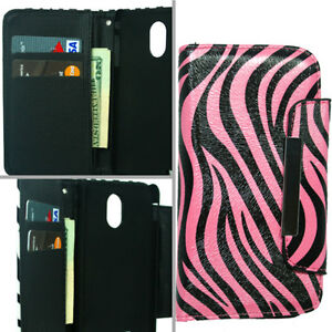 1 Wallet Purse+Hard Case For Samsung Galaxy S II 2 Epic Touch 4G SPH-D710 Phone