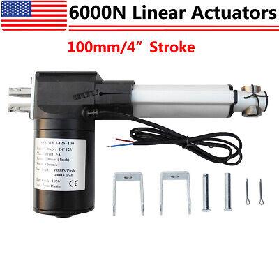 Heavy Duty 6000n 1320lbs Lift Dc 12v Linear Actuator Motor Stroke 100mm 4 Inch