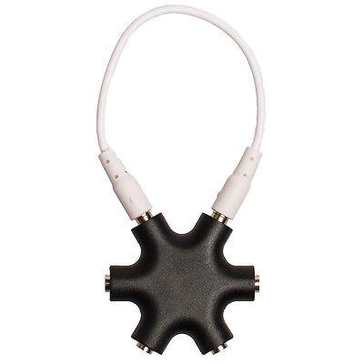 5-Fach Kopfhörer Verteiler Klinkenadapter Buchse Kupplung Splitter 3,5mm Klinke - Klinke, Klinken