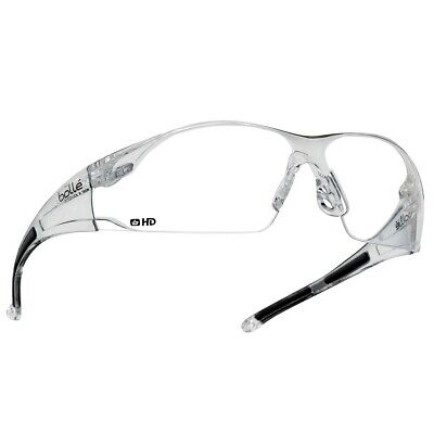 Bolle Rush Safety Glasses With Clear Hd Hydrophobic Lens Anti-fog Ansi Z87