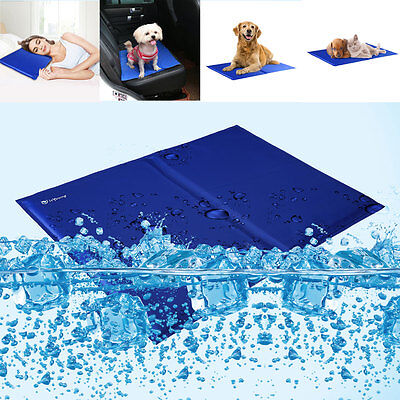 Pet Cooling Mat Dog Cat Pad Bed Gel Summer Cooler Comfort Chilly Mat 18''x24'' L