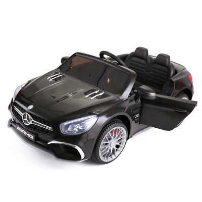 12V Kids Ride On Mercedes Benz Electric Car Remote Control Licensed MP3 RC Black