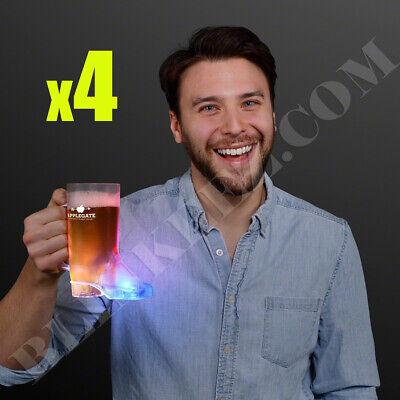 4X COWBOY BOOT 16 oz.Light Up LED Flashing Drinking Cup Party Drinking FUN~ - Cowboy Boot Cups
