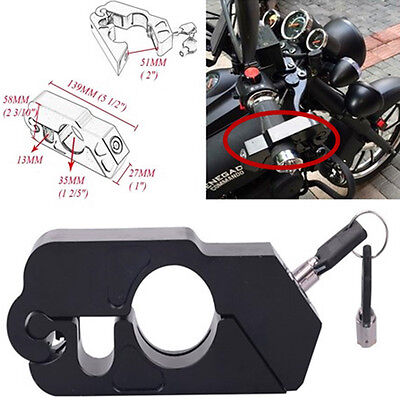 Brake Lever Grips - Anit Theft Security Caps-Lock Black Motorcycle Handlebar Grip Brake Lever Lock