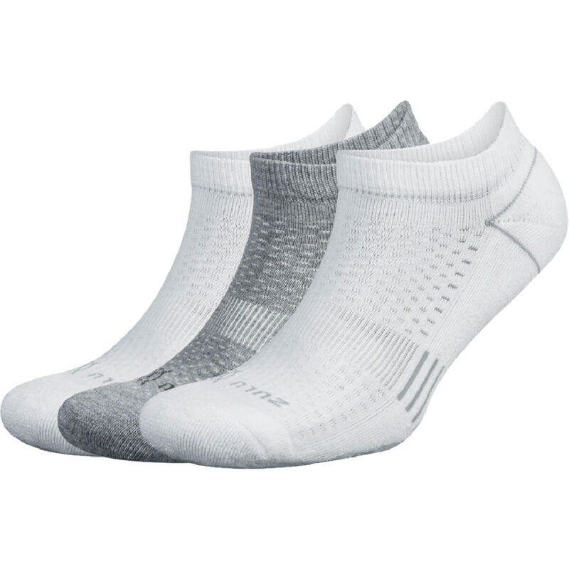 Balega Zulu No Show Running Socks 3-Pack - White/Multi