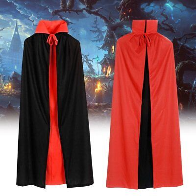 Halloween Cosplay Vampire Cloak Reversible Costume Dracula Devil Cape Unisex