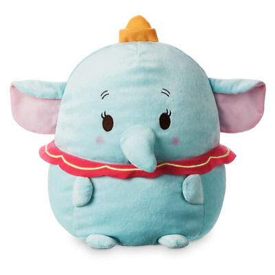 "Disney Store Authentic Dumbo Ufufy Cute Plush Stuffed Animal Elephant 12"" H New"