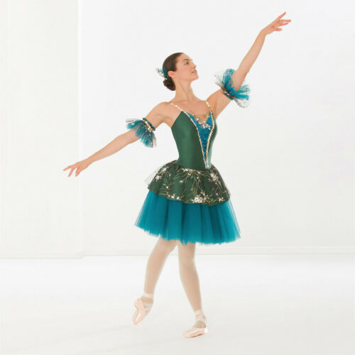 Revolution Dancewear Royal Dream Green Ballet Dress Adult Medium Dance Costume