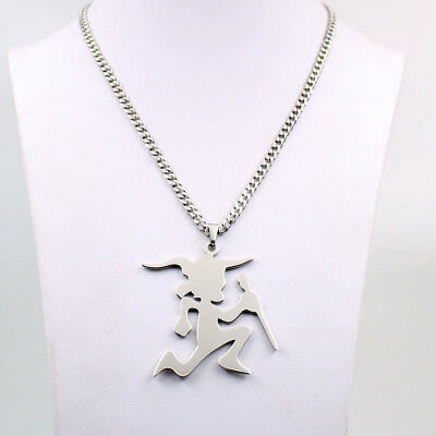 LARGE 3IN ICP HACHETMAN twiztid PENDANT 30in necklace link chian