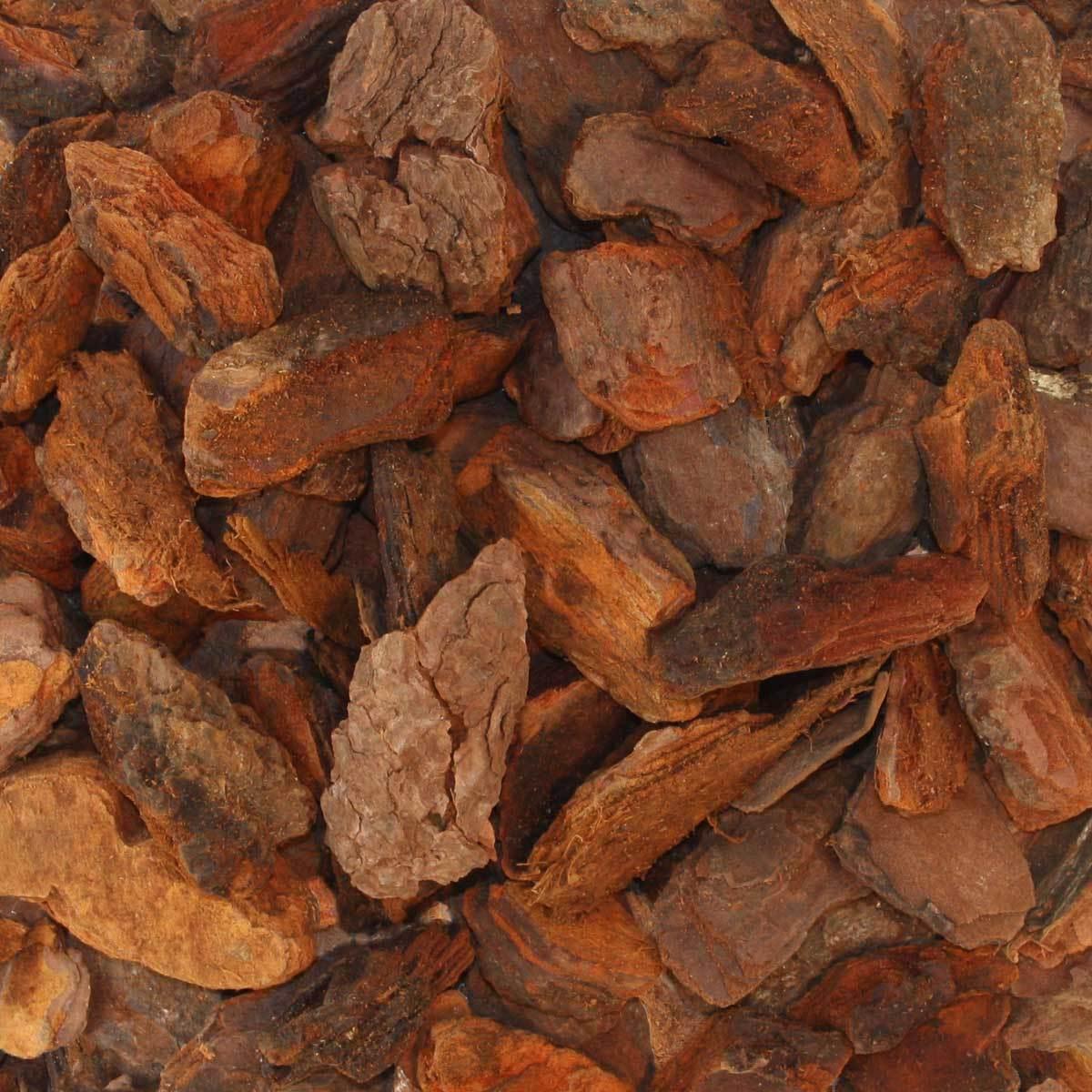 Pinienrinde Pinienmulch Rindenmulch Öko Deko 40-60mm 70l x 12 Sack 840l Palette