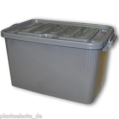 1 x Rollenbox mit Deckel 110 Liter grau, Aufbewahrungsbehälter (1x22272)