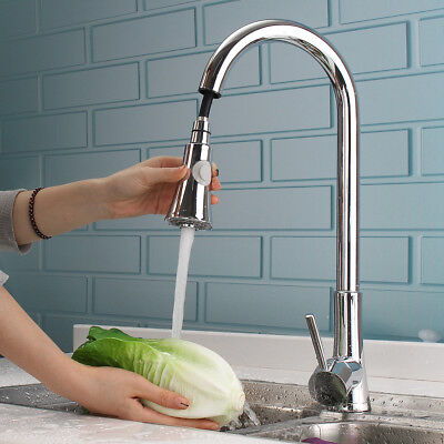 All Temerity Nickel Pull Down Kitchen Mixer Tap Swivel Sink Faucet Single Handle
