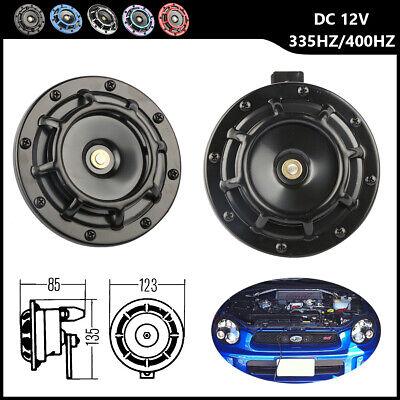 Used, 2x Black Electric Car Horn Super Loud Blast Tone Grill Mount 12V 335HZ/400HZ for sale  Dayton