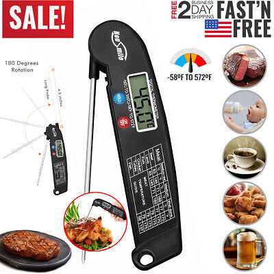 Digital Meat Thermometer Probe Kitchen Food Cooking BBQ Grill Water Measure Tool