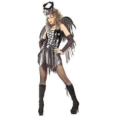 Fallen Angel Dark Gothic Costume Halloween Fancy Dress