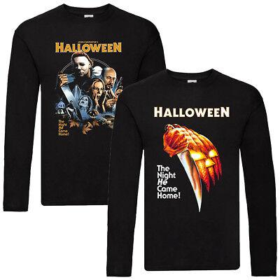 Halloween V2-V3, movie poster 1978, LONGSLEEVE T-Shirt (BLACK) ALL SIZES S-5XL - Halloween 2 1978