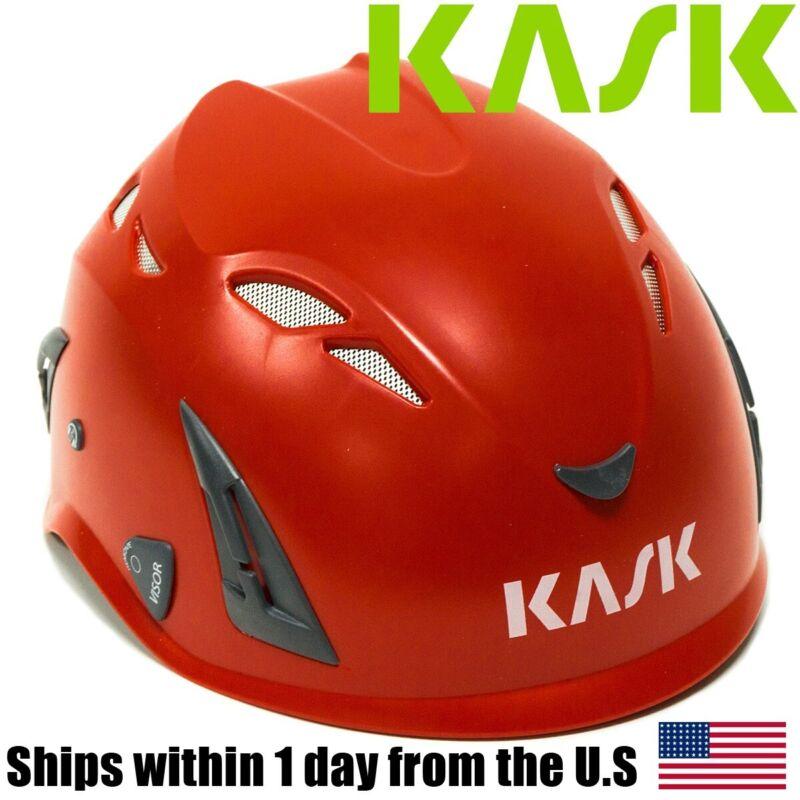 Kask Super Plasma Arborist Rock Tree Climbing Head Protection Helmet Red