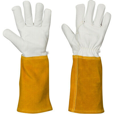 Welding Gloves For Women And Men Fireproof Heat Resistant Top Grain Cowhide Kev