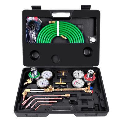 Gas Welding Cutting Kit Set Oxy Acetylene Oxygen Torch Brazing Fits Victor
