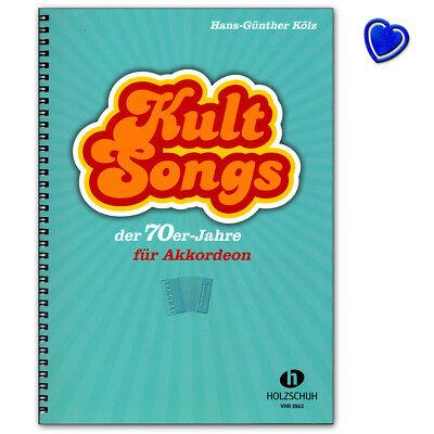 Kultsongs der 70er-Jahre für Akkordeon - Holzschuh - VHR1863 - 9783864340949