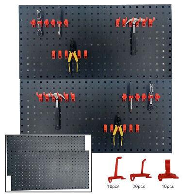 2 Pack Metal Wall Pegboard Peg Board Panels Organizer Shelf Display Tools Garage