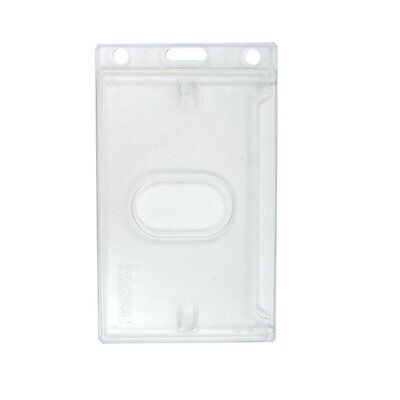 Specialist ID SPID-0065 Frosted Vertical Rigid Plastic Badge Holder - Clear