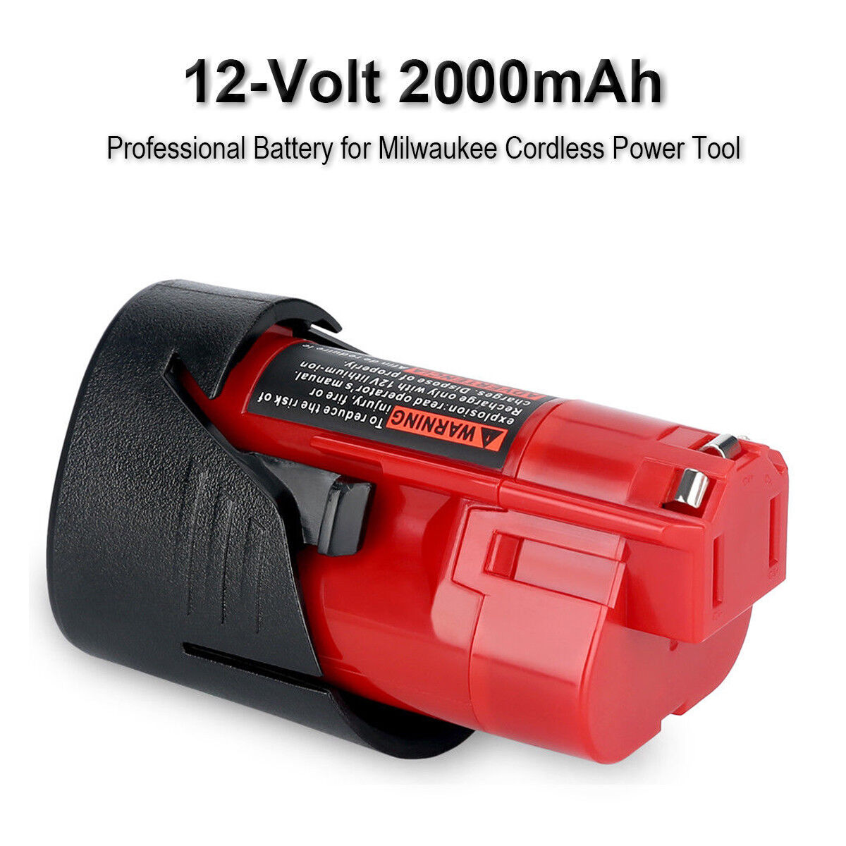 2xFor Milwaukee 48-11-2420 M12 LITHIUM Compact Battery 48-11-2402 48-11-2401 NEW 3