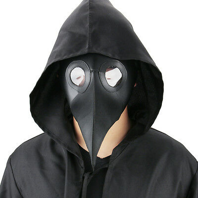 Plague Doctor Reenactment Leather Steampunk Bird Mask Exclusive Gothic Props