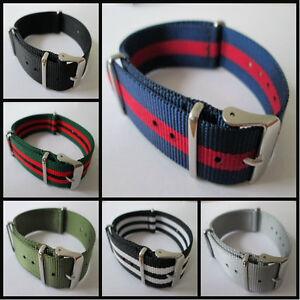 MILITARY-WATCH-STRAP-NYLON-3-RINGS-ARMY-DIVERS-BAND-QUALITY-WEBBING-18MM-20MM