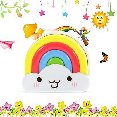 Night Light Lamp Mini Rainbow LED with Voice and Sensor Perfect Infant Kids Room
