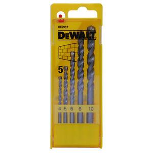 DEWALT DT6952 MASONARY DRILL BIT SET 4-10MM IN CASE