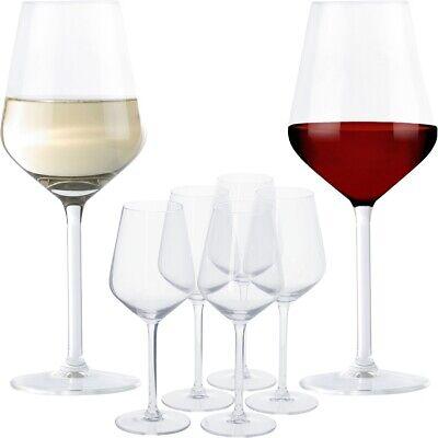 12 x Alpina Weingläser SET Rot - & Weißwein Gläser Edel Wein Klar Modern Design