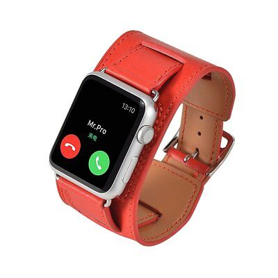 Apple Watch Band Strap Mr.Pro Leather Wrist iWatch & Sport & Edition Red 42mm Ams Apple