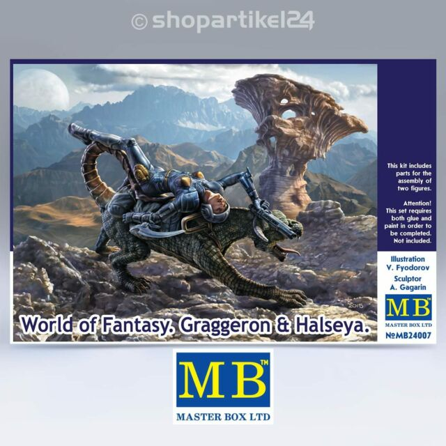 MASTER BOX 24007 - World of Fantasy Graggeron & Halseya - 1:24 Bausatz MB24007