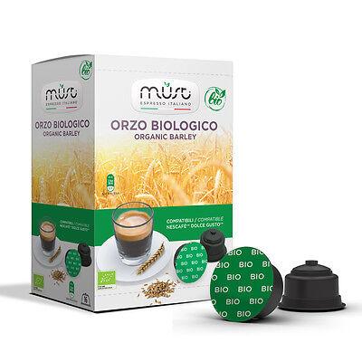 96 Capsule Orzo Biologico Compatibile Dolce Gusto Must Espresso Italiano