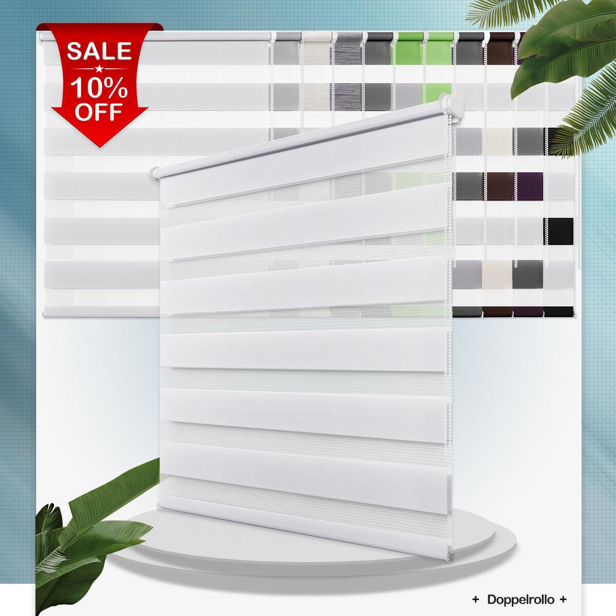 Doppelrollo Klemmfix ohne Bohren Duo Rollo mit Klämmträgern Fenster Sonnenschutz