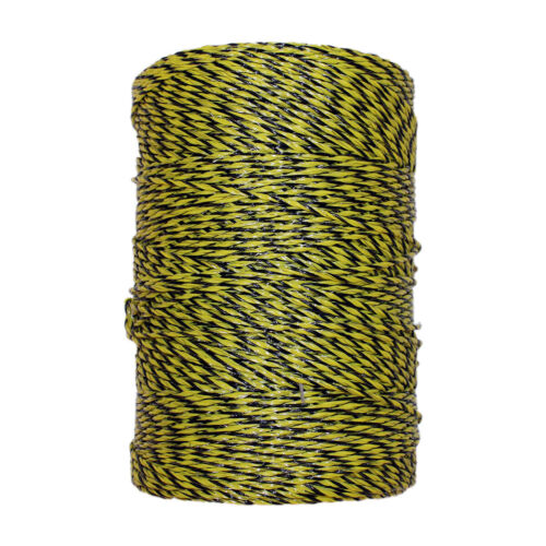 Electric Fence Polywire Trident Yellow Black 1312