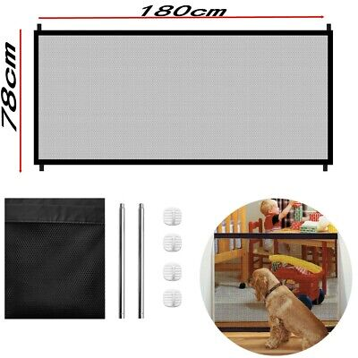 Pets Dog Cat Baby Portable Safety Gate Mesh Fence Guard Indoor Home Kitchen Net